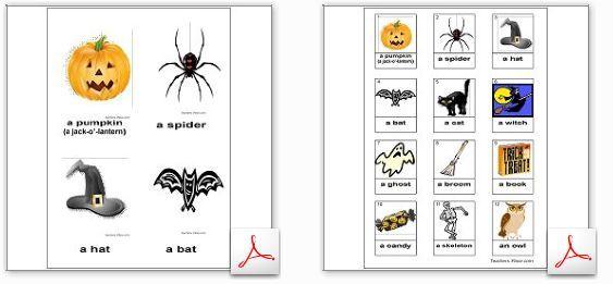 ハロウィーン関連の単語集