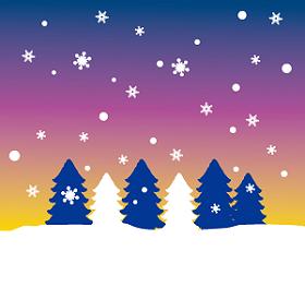 木々に雪が降る