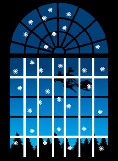 サンタクロースの見える窓