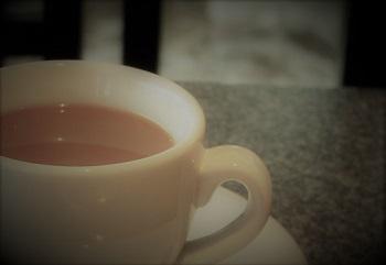 カフェで打合せ